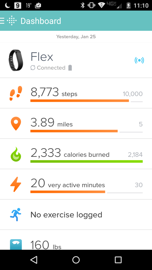 FitBitFlexDashboard